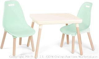 B spaces and kids Century Modern table and chair set (online $70)