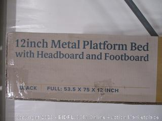 """Zinus 12"""" Metal Platform Bed With Headboard And Footboard Full"""