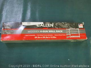 Allen Four Gun Wooden Wall Gun Rack