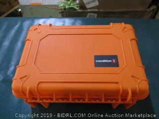 "Condition 1 18"" Medium #801 Orange Waterproof Hard Case with DIY Customizable Foam"