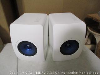 Kef- LS50 Mini Monitor - High Gloss White - Pair ( Retails $899)