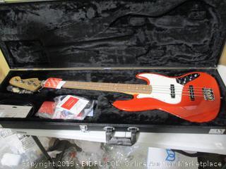 Fender- Player Jazz Electric Bass Guitar ( Sonic Red)w/ Flight Case ( Retails $674)