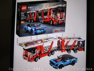 LEGO Technic Car Transporter 42098 Toy Truck and Trailer Building Set with Blue Car, Best Engineering and STEM Toy for Boys and Girls, New 2019 (2493 Pieces, 2 Packets Open, Box Damaged)