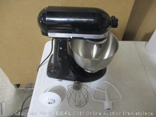 KitchenAid - Classic Series 4.5qt Tilt-Head Stand Mixer (Onyx Black) Powers On
