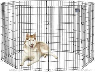 Midwest Black E-coat Exercise Pen With Door-48-inch Tall(Factory Sealed) COME PREVIEW!!!!
