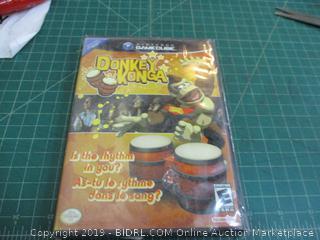 nintendo Gamecube Donkey Konga factory sealed