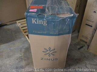 """Zinus king size green tea 10"""" gel memory foam mattress"""