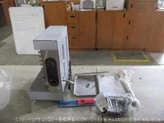 Automatic Vertical Broiler Grill Rotisserie , dented, powers on
