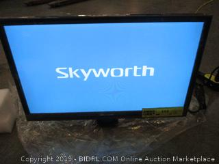 "Skyworth 22"" Class AC/DC LED HDTV/DVD Combo Powers On"