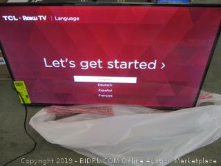 "TCL Roku TV  40"" Power on / in box"