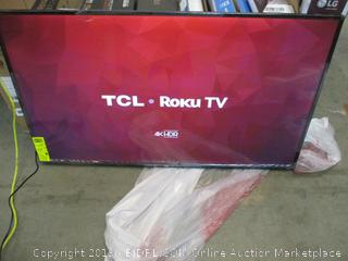 "TCL Roku TV 55"" Power on/ in box"