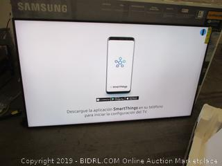 "Samsung UHD TV  75"" 6 Series TV Powers on/ in box"