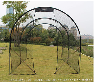 GALILEO Baseball Batting Cage (Online $220) Heavy Duty Netting Backstop Nets Training Baseball for Pitching Pitchers 16x10x10FT