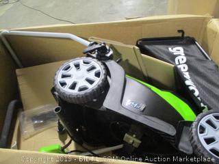 "Greenworks- 14"" 9 amp Electric Lawn Mower"