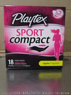Playtex Sport Compact Regular Unscented Tampons 18pk