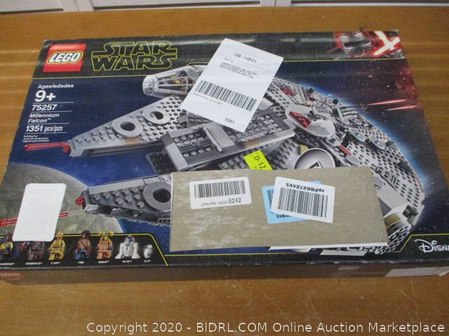 Lego Star Wars The Rise Of Skywalker Millennium Falcon 75257 Starship Model Building Kit And Minifigures Auction Bidrl Com Online Auction Marketplace