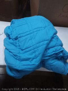 blue large weighted blanket