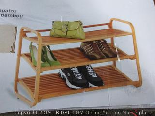 Bamboo shoe shelf (broken piece of shelf)
