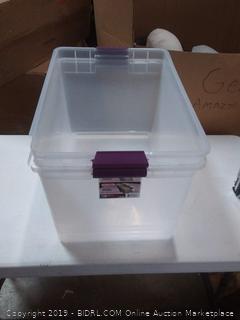 Sterilite Storage Bin 16.5 gal 2 count (small break in the corner)