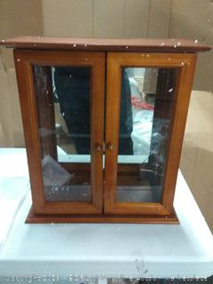 what and glass small cabinet (crack on mirror)