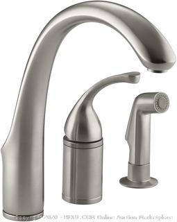 Kohler K-10430-BN Brushed Nickel Kitchen Faucet With Sprayer (online $329)