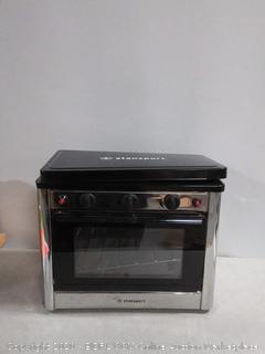 Stansport Propane Outdoor Camp Oven and 2 Burner Range (online $216)