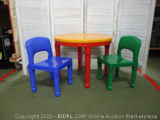 Kids leggo table and chairs