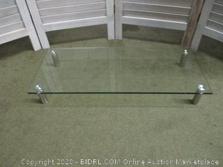 Glass desk table