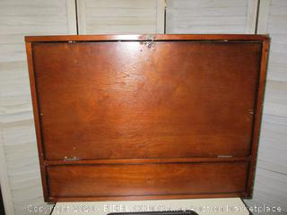 Writing desk cabinet. Needs some work. See pics.