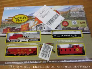 Bachmann Trains - Santa Fe Flyer Ready To Run Electric Train Set - HO Scale