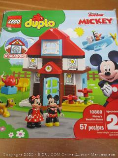 LEGO DUPLO Disney Mickey's Vacation House 10889 Toy House Building Set