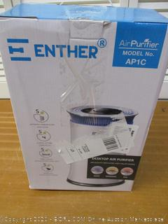 Enther AP1C Air Purifier with True HEPA Filter, Air Filter for Allergies Pets Smoke Smokers Home Mold Dust, Air Cleaner Odor Eliminator