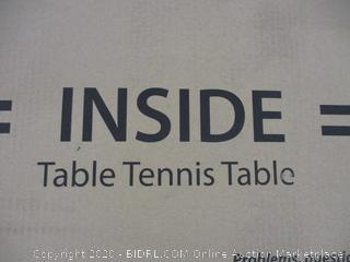 Inside Table Tennis Table (Please Preview) (Damaged)