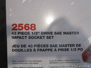"1/2"" Drive SAE Master Impact Socket Set (Box Damage)"