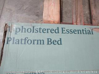 Zinus Upholstered Essential Platform Bed Queen