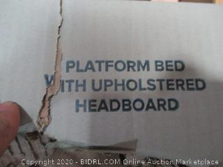 Zinus Platform Bed with Upholstered Headboard Queen
