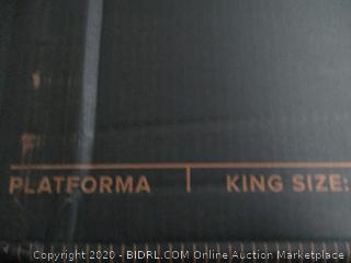 "Zinus Platforma 18"" Mattress foundation  King"