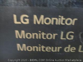 LG Monitor Powers On