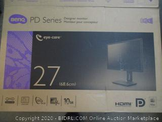 Benq PD Series Monitor 27 Powers On