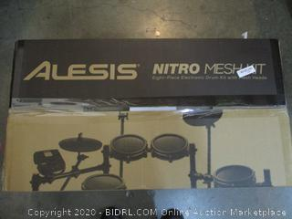 Alesis Nitro Mesh Kit eight Piece Electronic Drum Set  See pICTURES