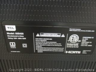 """TCL Roku TV 4K HDR 55""""  see pictures Powers on"""