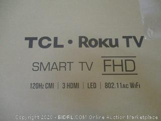 """TCL Roku TV Smart TV FHD 49"""" Powers on See Pictures"""