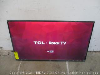 "TCL Roku TV 4K HDR 50"" Powers on See Pictures"