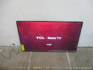 """TCL Roku TV 4K HDR  50"""" Powers on   See Pictures"""