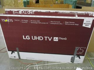 "LG UHD TV 75"" Powers on See Pictures"