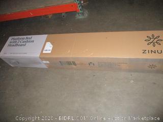 Zinus Platform Bed with 2 Cushion Headboard Full