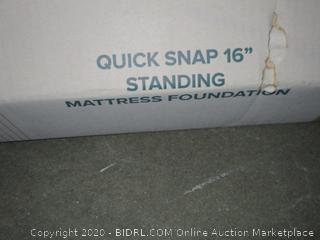 "Zinus Full Quick Snap 16"" Standing Mattress Foundation"