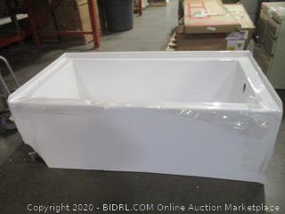 Mirabella Alcove Soaker Tub damaged