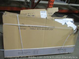 Stainless Steel Kitchen Table with Backsplash