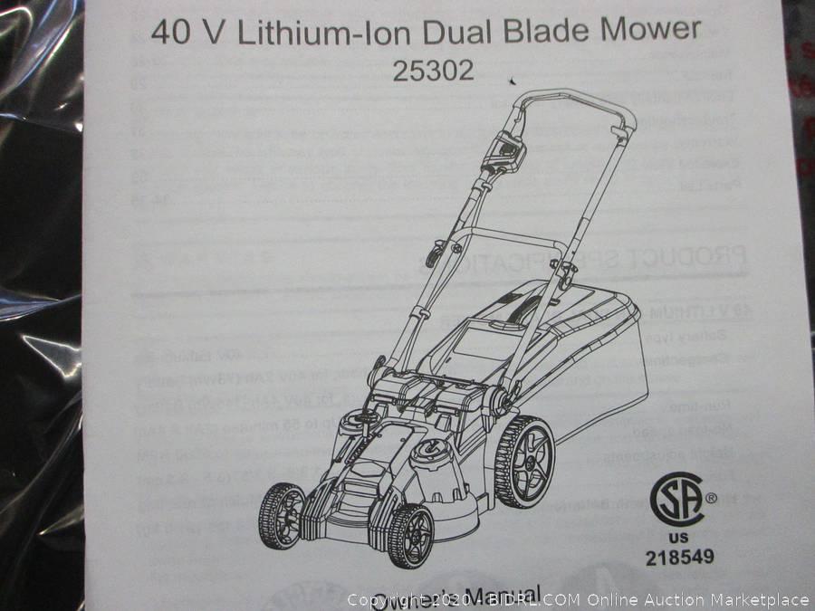 Oversize Dual Blade Lawn Mower Auction  - 840 N. 10th Street Sacramento - January 16